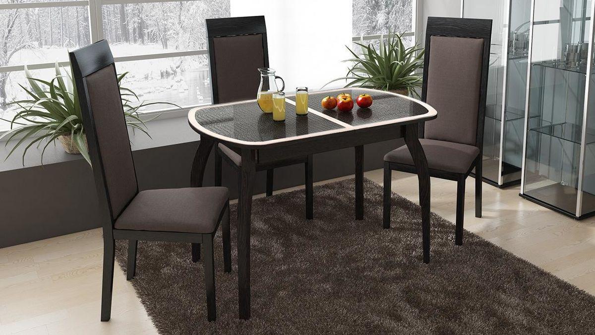Обеденный стол ТриЯ Ницца 2 раздвижной на деревянных ножках - фото 1
