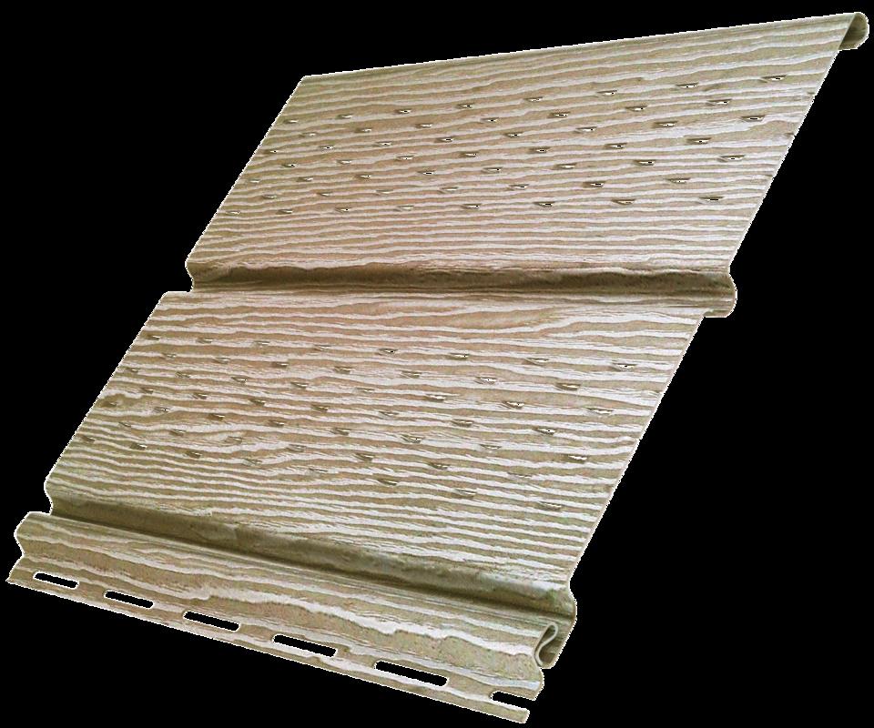 Софит Ю-пласт Timberblock Дуб натуральный с полной перфорацией - фото 1