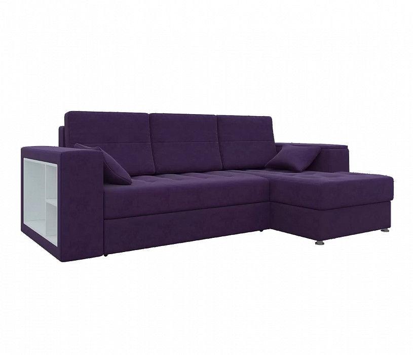 Диван Mebelico Атлантис Угловой микровельвет фиолетовый - фото 1
