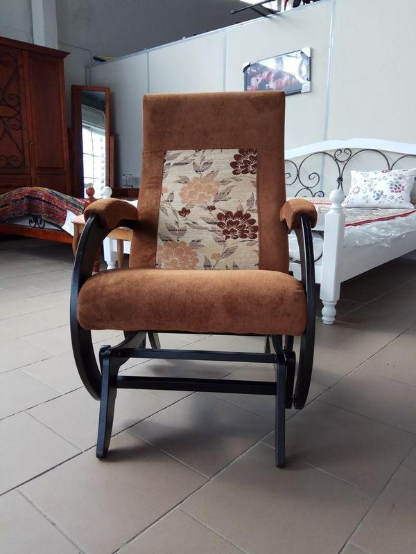 Кресло Бастион 1М глайдер (pearl 108 +цветы) - фото 6