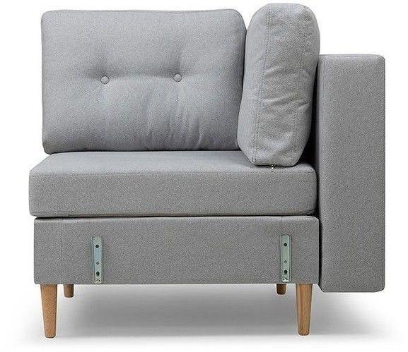 Кресло Woodcraft угловое Динс Sherst Grey - фото 2
