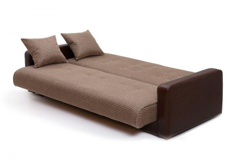 Диван Луховицкая мебельная фабрика Лондон (корфу микс коричневый) пружинный 120x190 - фото 3