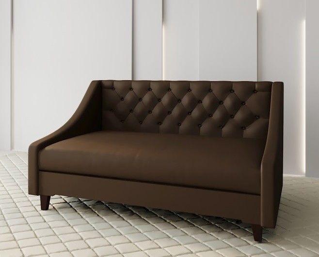Диван Луховицкая мебельная фабрика Мальта 2 (рогожка коричневая) 145x80 - фото 1