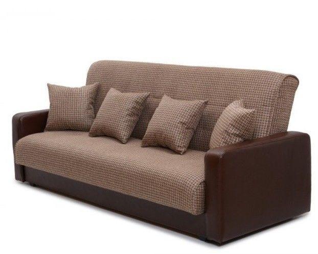 Диван Луховицкая мебельная фабрика Лондон (корфу микс коричневый) пружинный 120x190 - фото 2