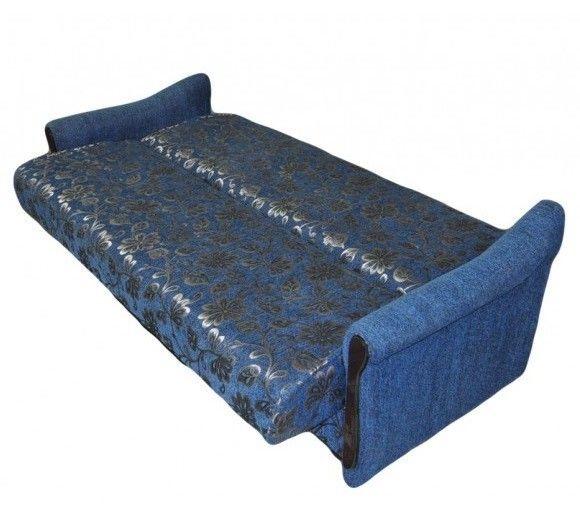 Диван Луховицкая мебельная фабрика Уют синий (120x190) пружинный - фото 2