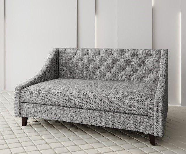 Диван Луховицкая мебельная фабрика Мальта 2 (рогожка серая) 160x80 - фото 1