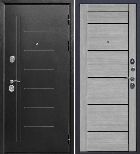 Входная дверь Гарда Троя Серебро Царга (дымчатый дуб) - фото 1