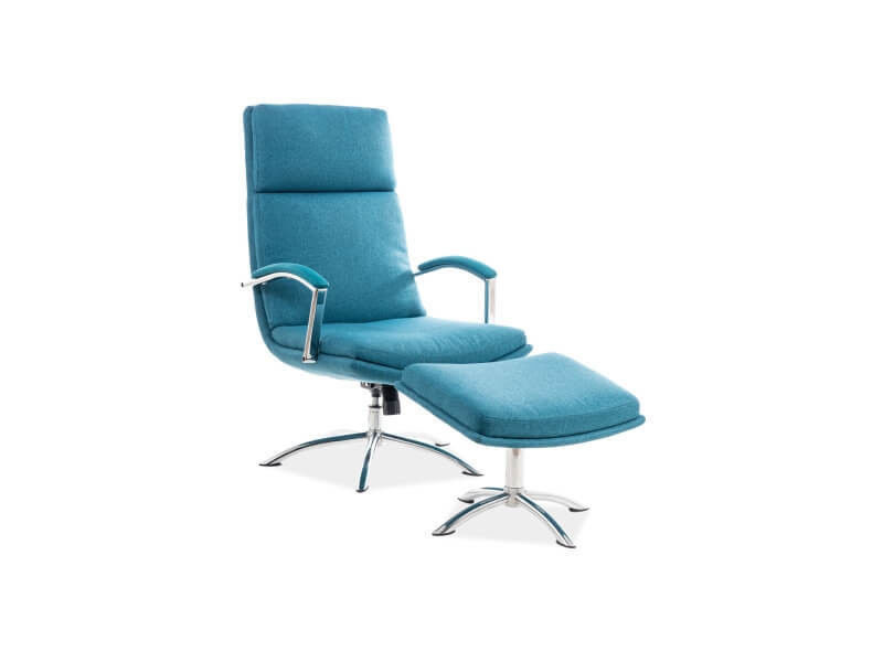 Кресло Signal JEFFERSON TAP. 175, кресло+подставка для ног (бирюзовый) JEFFERSONTR - фото 1