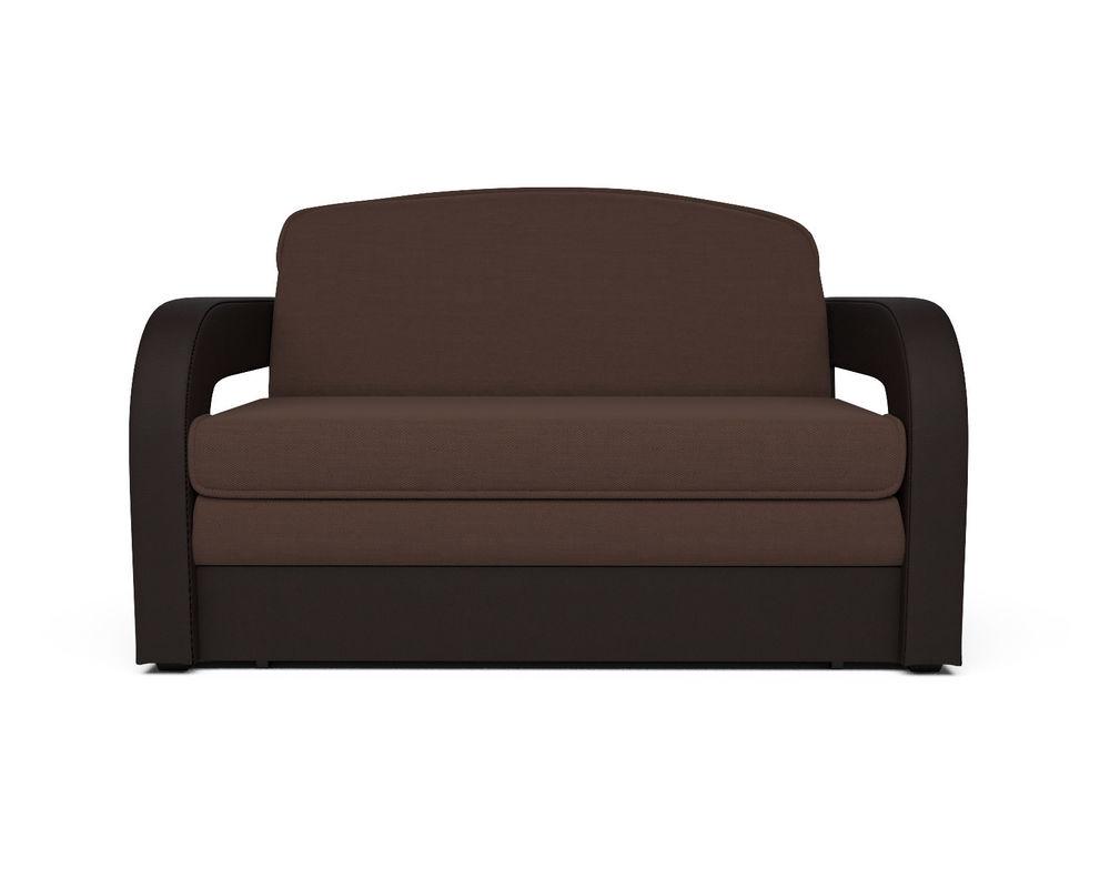 Диван Мебель-АРС Кармен-2 (рогожка шоколад + экокожа) - фото 1