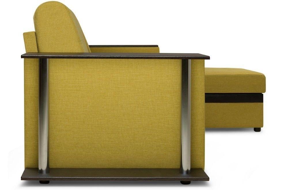 Диван Woodcraft Угловой Атланта Textile Yellow - фото 6