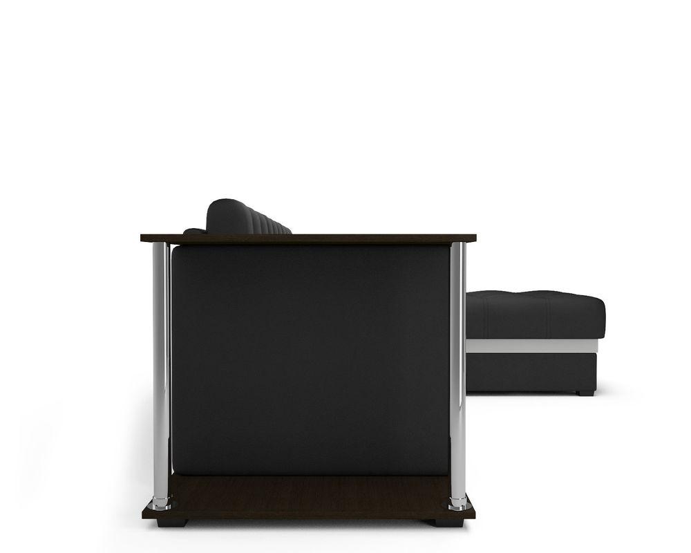Диван Мебель-АРС Атланта (экокожа черная с полоской) - фото 6