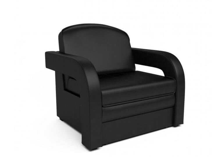 Кресло Craftmebel Кармен-2 (черный кожзам) - фото 1
