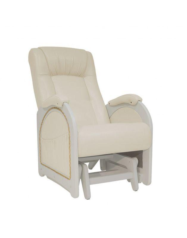 Кресло Impex Кресло-гляйдер Модель 48 экокожа сливочный (oregon 106) - фото 1