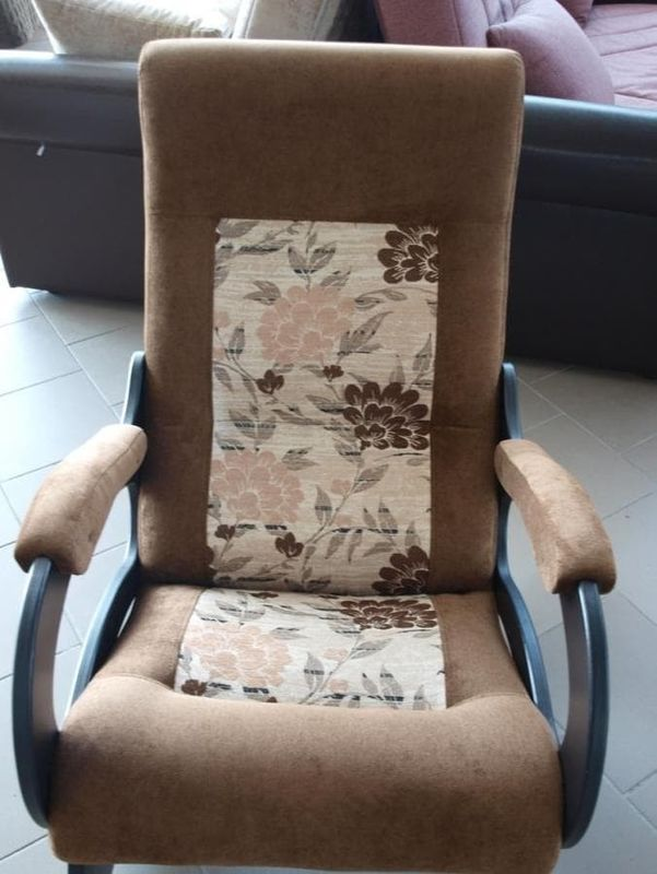 Кресло Бастион 2 Pearl 108 цветы, с подножкой - фото 2
