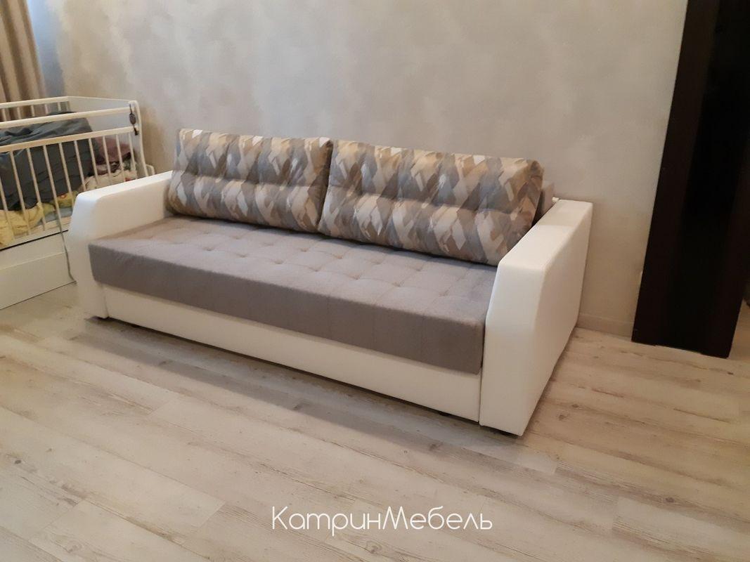 Диван DM-мебель Эврика (3М, серый/фотопечать) - фото 1