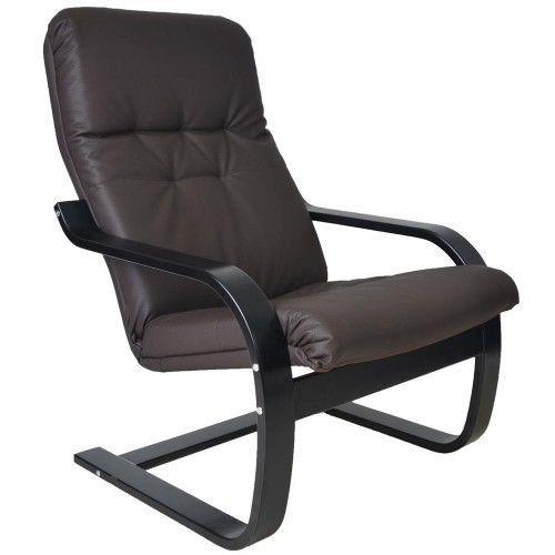 Кресло Greentree Сайма венге/экокожа Шоколад - фото 1