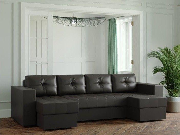 Диван Настоящая мебель Ванкувер Лайт (Модель: 123125) черный - фото 1