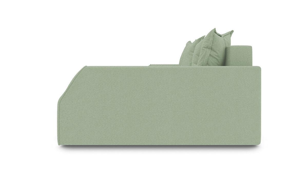 Диван ТриЯ правый «Люксор Slim Т2» (Neo 05 (рогожка) мятный) - фото 3