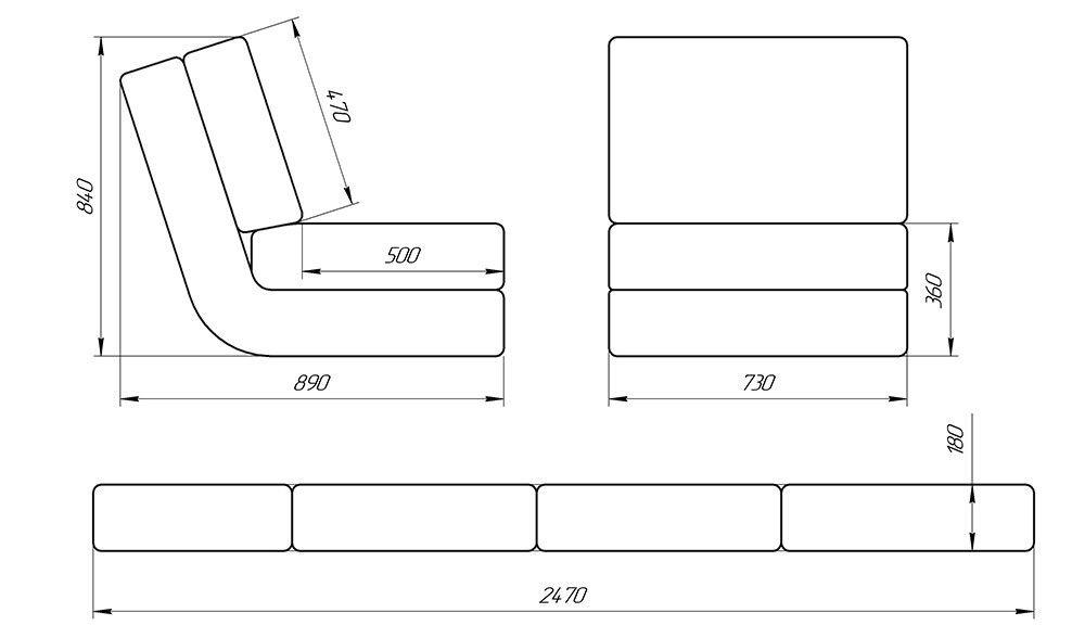 Кресло LAMA мебель Марио 1 - фото 3