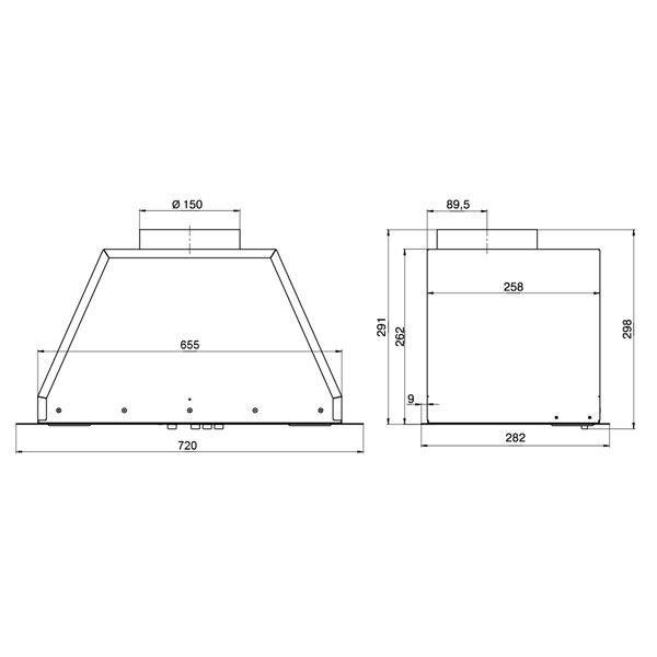 Вытяжка кухонная Elikor Flat 72П-650-К3Д White - фото 3