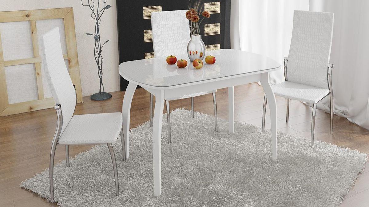 Обеденный стол ТриЯ Ницца 2 раздвижной на деревянных ножках - фото 4