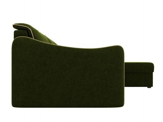 Диван ЛигаДиванов Скарлетт 125 угловой левый 60675 вельвет зеленый - фото 5