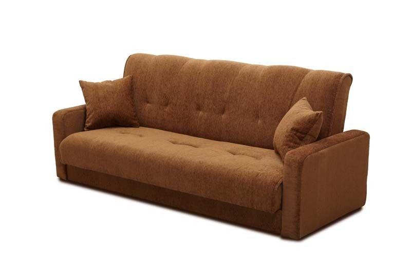 Диван Луховицкая мебельная фабрика Милан 120х190 шенилл тёмно-коричневый пружинный - фото 2
