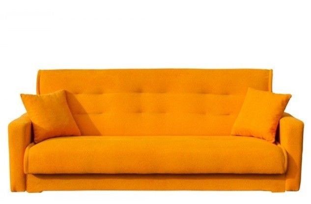 Диван Луховицкая мебельная фабрика Милан (Астра оранжевый) пружинный 140x190 - фото 2