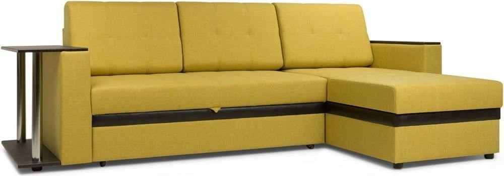Диван Woodcraft Угловой Атланта Textile Yellow - фото 3