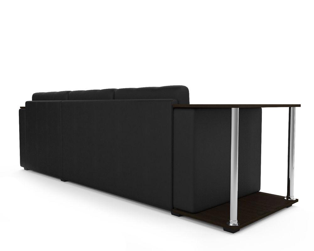 Диван Мебель-АРС Атланта (экокожа черная с полоской) - фото 5