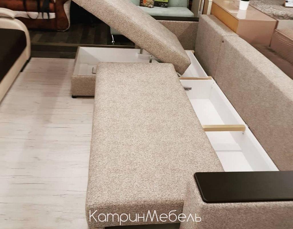 Диван DM-мебель Премьер-2 (угловой, бежевый/коричневый) - фото 4