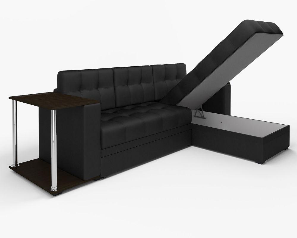 Диван Мебель-АРС Атланта (экокожа черная без полосы) - фото 6