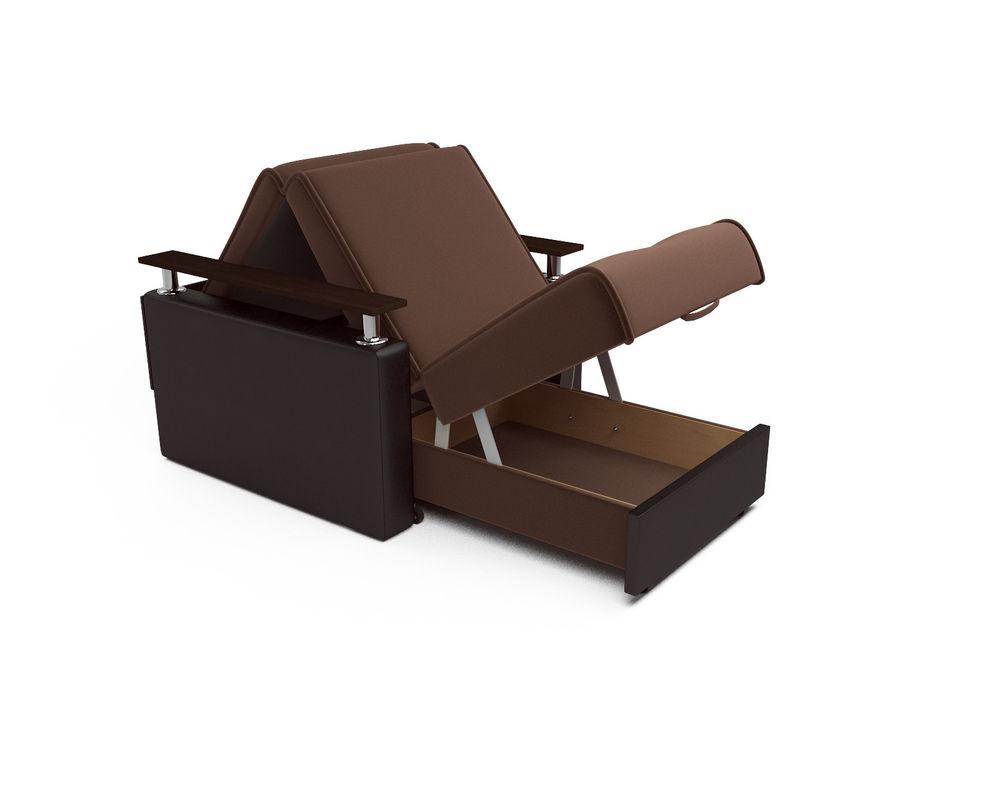 Кресло Мебель-АРС Шарм - шоколад (микровелюр + экокожа) - фото 5