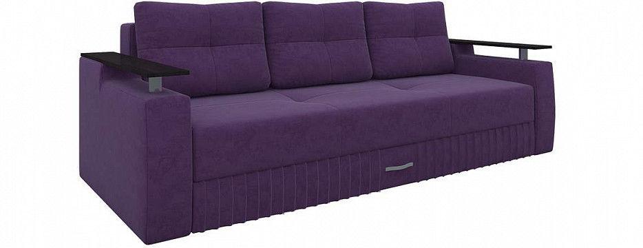 Диван Mebelico Лотос прямой Микровельвет фиолетовый - фото 1