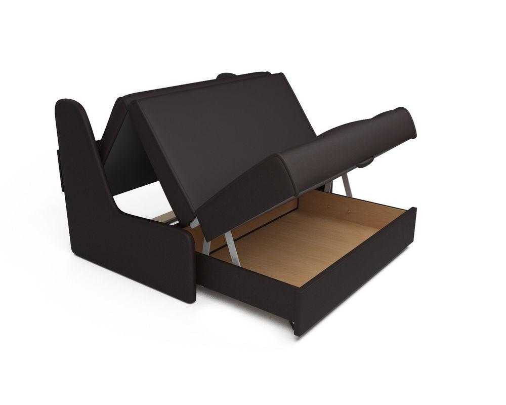 Диван Мебель-АРС Аккордеон №2 - экокожа шоколад (120х195) - фото 5