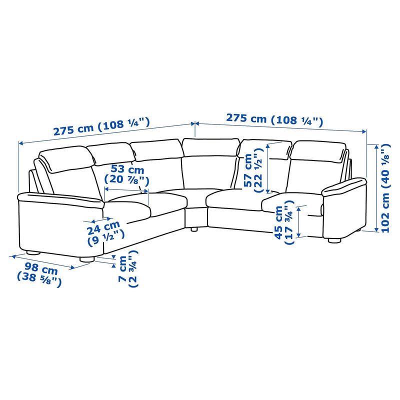 Диван IKEA Лидгульт [392.573.96] - фото 5