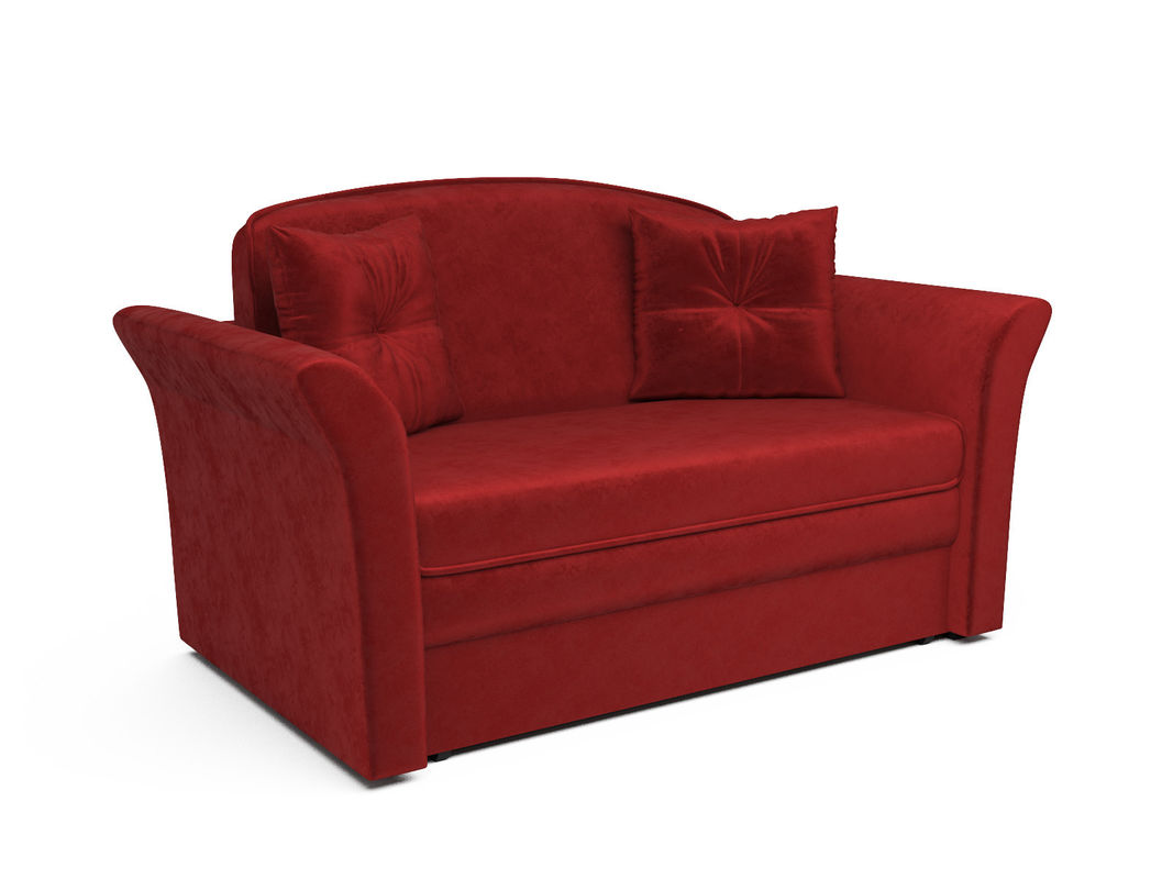 Диван Мебель-АРС Малютка №2 (бархат красный  STAR VELVET 3 DARK RED) - фото 1