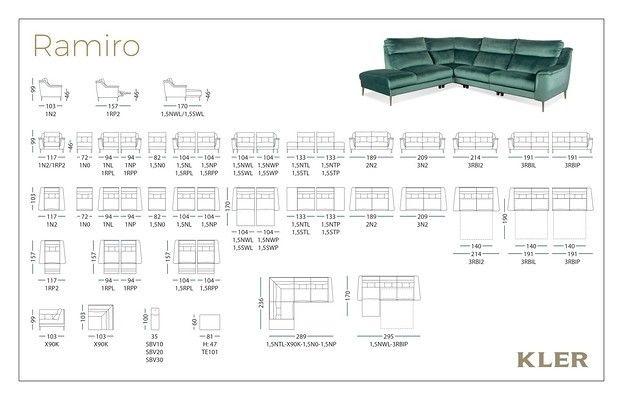 Диван KLER RAMIRO E101 (214x103x99) ткань - фото 9