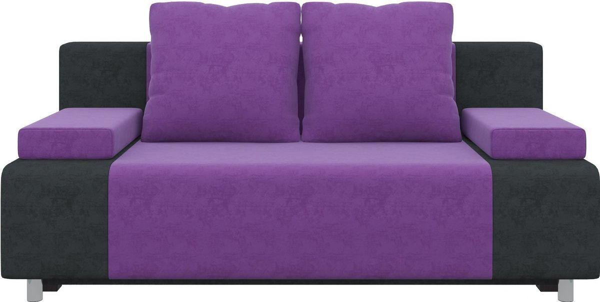 Диван Mebelico Чарли 63 микровельв. фиолетовый/черный - фото 4