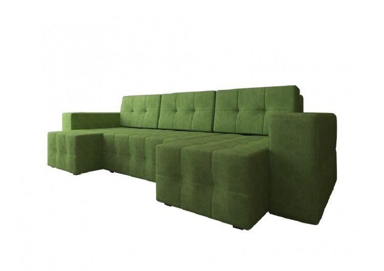 Диван Настоящая мебель Константин Питсбург П-образный зеленый - фото 2