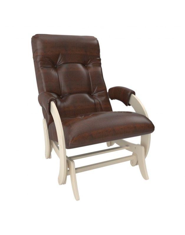 Кресло Impex Кресло-гляйдер Модель 68 экокожа сливочный (dundi 112) - фото 3