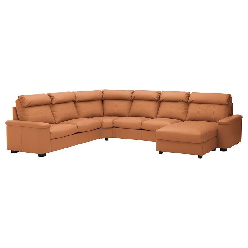 Диван IKEA Лидгульт золотисто-коричневый [692.776.23] - фото 1