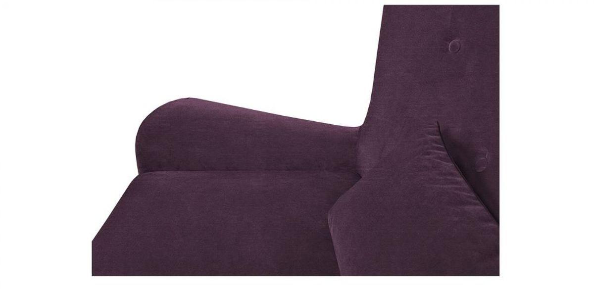 Диван WOWIN Амели Темно-фиолетовый велюр (2.5-местный) - фото 7