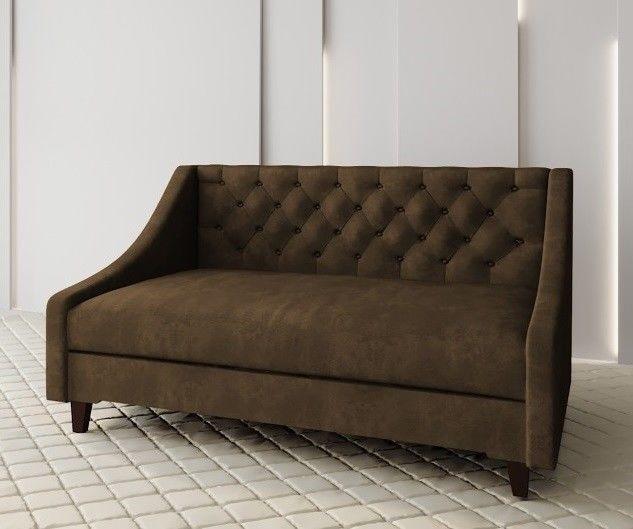 Диван Луховицкая мебельная фабрика Мальта 2 (велюр коричневый) 135x80 - фото 1