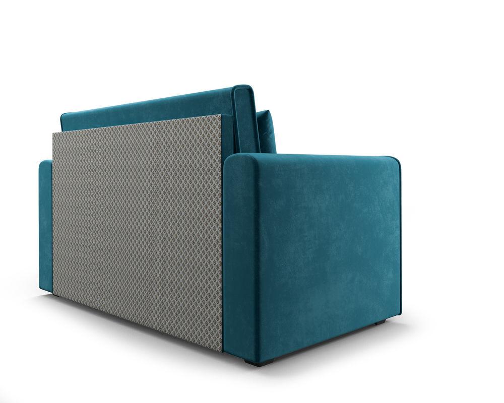 Диван Мебель-АРС Санта (бархат сине-зеленый  STAR VELVET 43 BLACK GREEN) - фото 4