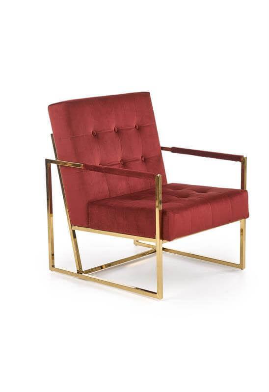 Кресло Halmar PRIUS (бордовый/золотой) V-CH-PRIUS-FOT-BORDOWY - фото 1