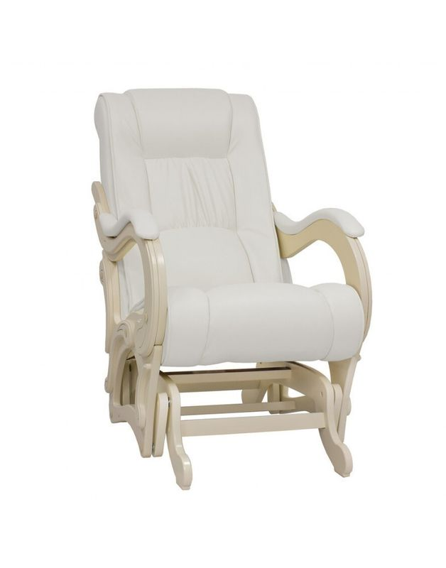 Кресло Impex Кресло-гляйдер, Модель 78 экокожа сливочный (mango 002) - фото 1