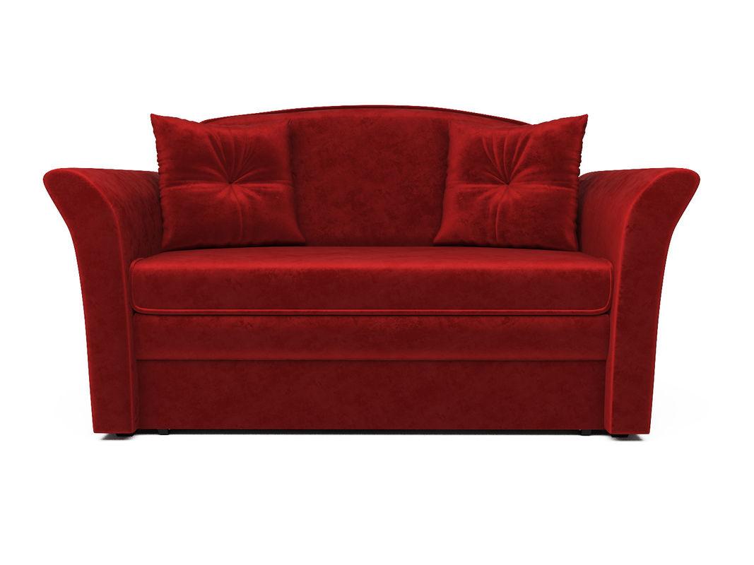 Диван Мебель-АРС Малютка №2 (бархат красный  STAR VELVET 3 DARK RED) - фото 2