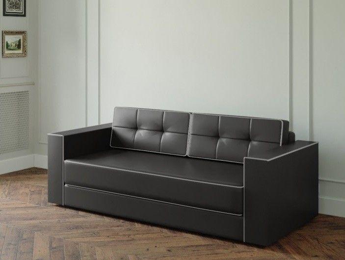 Диван Настоящая мебель Ванкувер Модерн (модель: 00-000034539) чёрный - фото 1