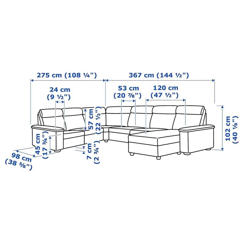 Диван IKEA Лидгульт 392.572.64 - фото 6
